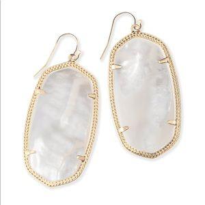 Kendra Scott gold & ivory pearl danielle earrings